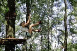 Gliwice Atrakcja park linowy Lina Adrena